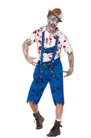 Mens Zombie Fancy Halloween Costume Outfit