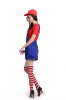 Womens Super Mario Luigi Dress Up Costume