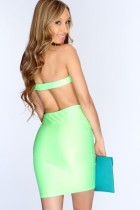 Sexy bodycon dress in green L2144