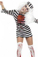 Zombie Convict Costume Prisoner Jail Jailbird