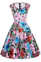 Vintage Flower Skater Dress L36115-3