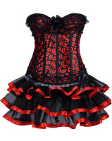 Sexy Corset with Skirt L4229
