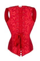 Steel Boned Noble Red Jacquard Waist Cincher Vest Corset L42664-
