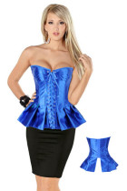 Peplum Flare Corset Blue L4050-7