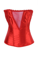 Daring Sheer V Corset Red L4057-3