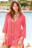 Sexy Casual Crochet Trim Cover-up L38197-1