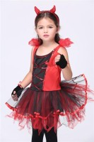 Girls Devil Tutu Dancing  Halloween Costume L15290