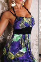 Plus Size Sexy Long Dress Maxi Purple M and XXL L5061-1