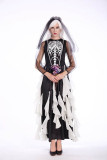 Halloween Scary Black Bridal Costume for Carvinal