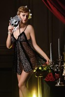 Sexy Leopard Babydoll with Matching G-string L2567