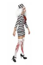 Zombie Convict Costume Prisoner Jail Jailbird