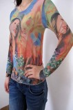 Country Girl Tattoo Long Sleeves T-shirt L9808