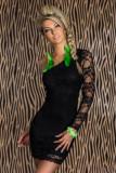 Ladies Elegant Dress Black L2502-1