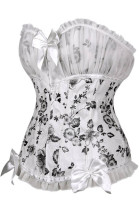 Black Flower Printed Sexy Corset L42710