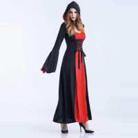 Witch Halloween Costumes with Hood 15520-1