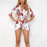 Summer Holiday Floral Print Romper 55340-2