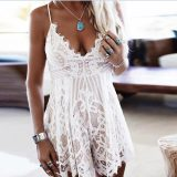 Womens Holiday Mini Lace Jumpsuit 55341