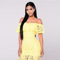 Off the Shoulder Lace Maxi Dress 51425-1