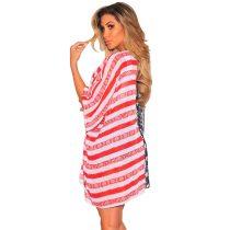 American Flag Print Kimono Cover Up Beachwear 384950