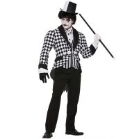 Black and White Checkered Harlequin Tail Costumes