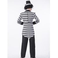 Black and White Checkered Harlequin Tail Costumes