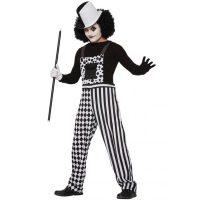 Black and White Checkered Harlequin Clown Overalls