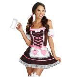 Oktoberfest Brown Tavern Maid Dress