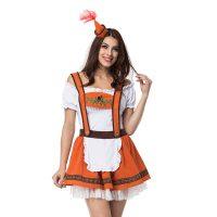 Burnt Orange Ladies Oktoberfest Dress