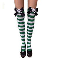 Women's Nylon Striped Tights Stocking
