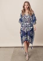 Printed Cocoon Kimono Beach Coverup