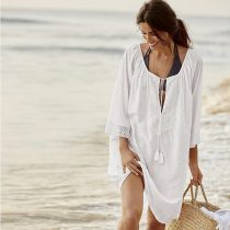 Cotton Loose Bikini Beach Blouse