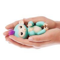 Interactive Baby Monkey - Zoe (Turquoise with Purple Hair)