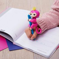 Interactive Baby Monkey - Bella (Pink with Yellow Hair)