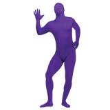 Unisex Purple Full Body Spandex Lycra Skin Zentai Suit Morph Costume
