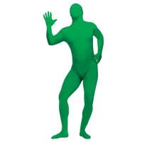 Unisex Green Full Body Spandex Lycra Skin Zentai Suit Morph Costume
