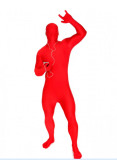 Unisex Red Full Body Spandex Lycra Skin Zentai Suit Morph Costume
