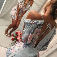 Women's Sexy Flower Printed Short Romper