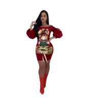 Sexy Off Shoulder Cartoon Avatar Dress