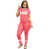Letter  Pink  Printing Ribbon Two Piece Set