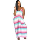 "The ""Pinky"" Color Block Maxi Dress"