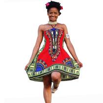 Bohemian African Bazin Riche Traditional Dashiki Dresses