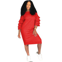 "The ""Red Ruffle"" Dress"