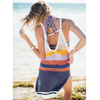 Bohemia Spaghetti Straps Backless Beach Dress