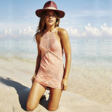 Knitting Spring Halter Mini Dress