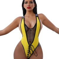High Cut Sexy Lace-Up One-Piece Swimsuit