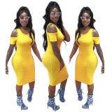 Off-Shoulder Midi Dress