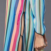 Chiffon Stripe Beach Tunic Dress