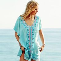 Embroidered Beach Blouse