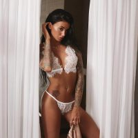 Bralette Lace Cutout Underwear Set