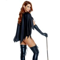 Forplay Sexy Witch, Please! Black Bodysuit w/ Cape 3pc Costume